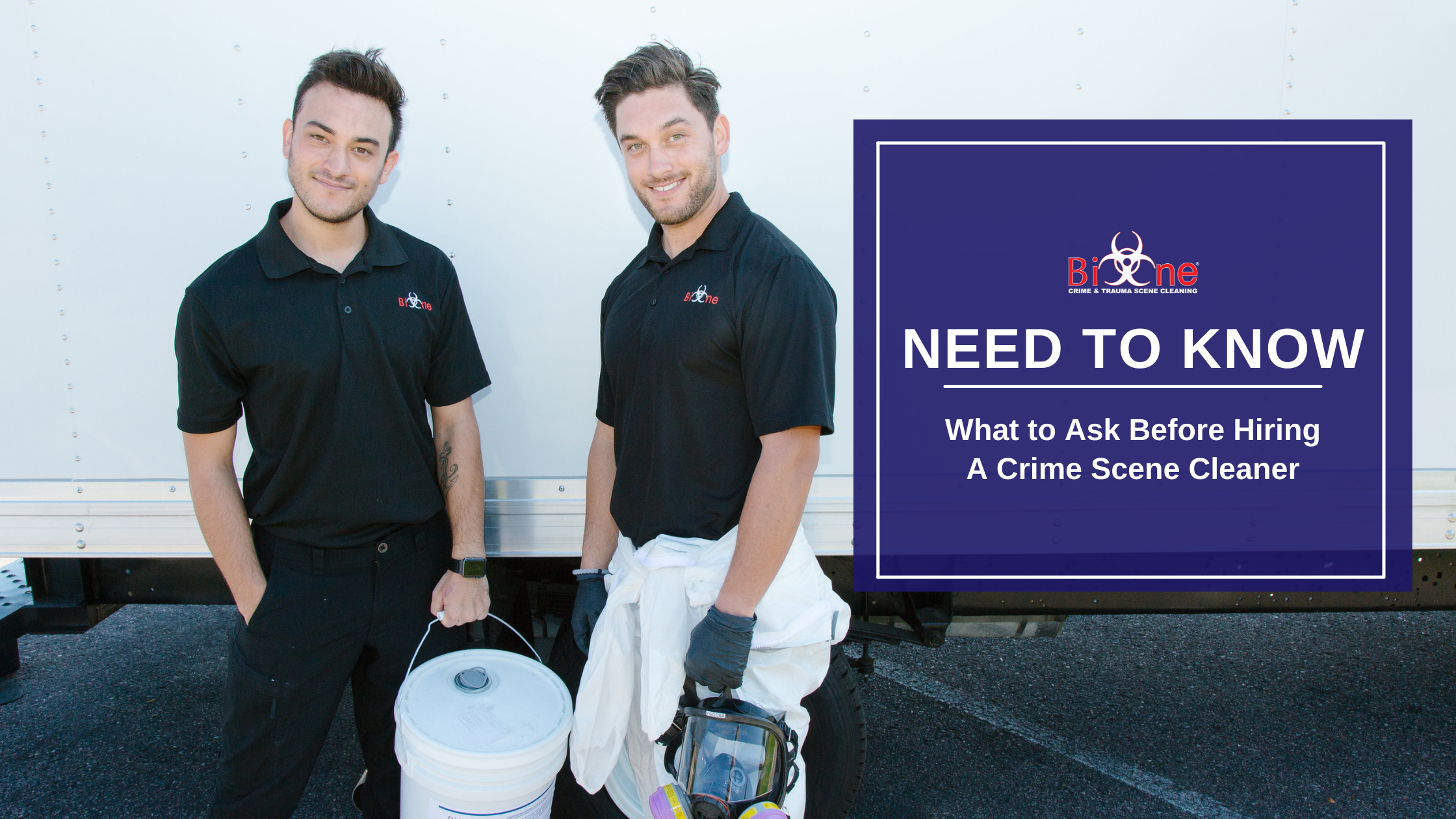 Bio-One What to Ask Before Hiring a Crime Scene Cleaner