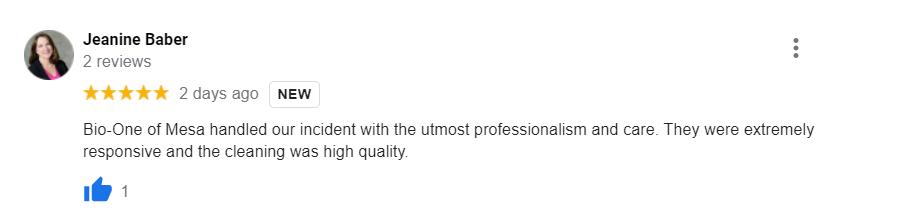 Bio-One Customer Review