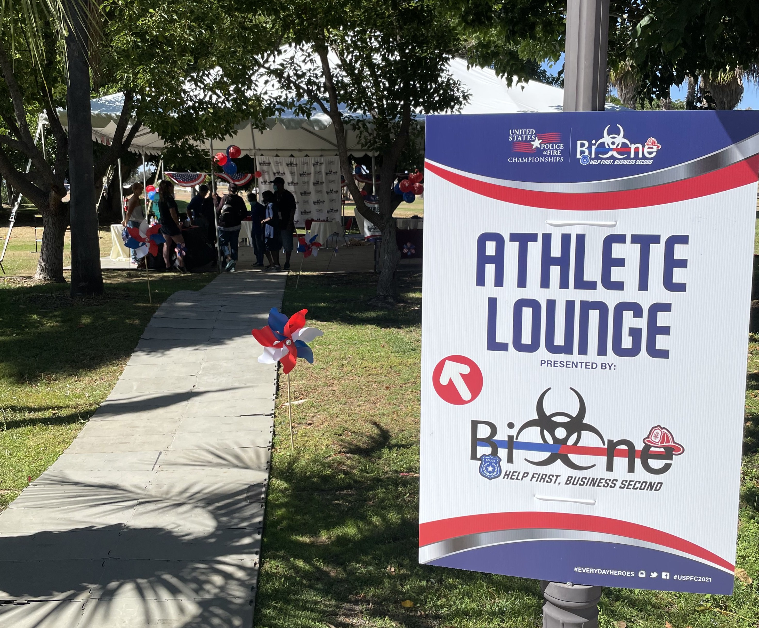 Bio-One Booth and Athlete Lounge at the United States Police and Fire Championships