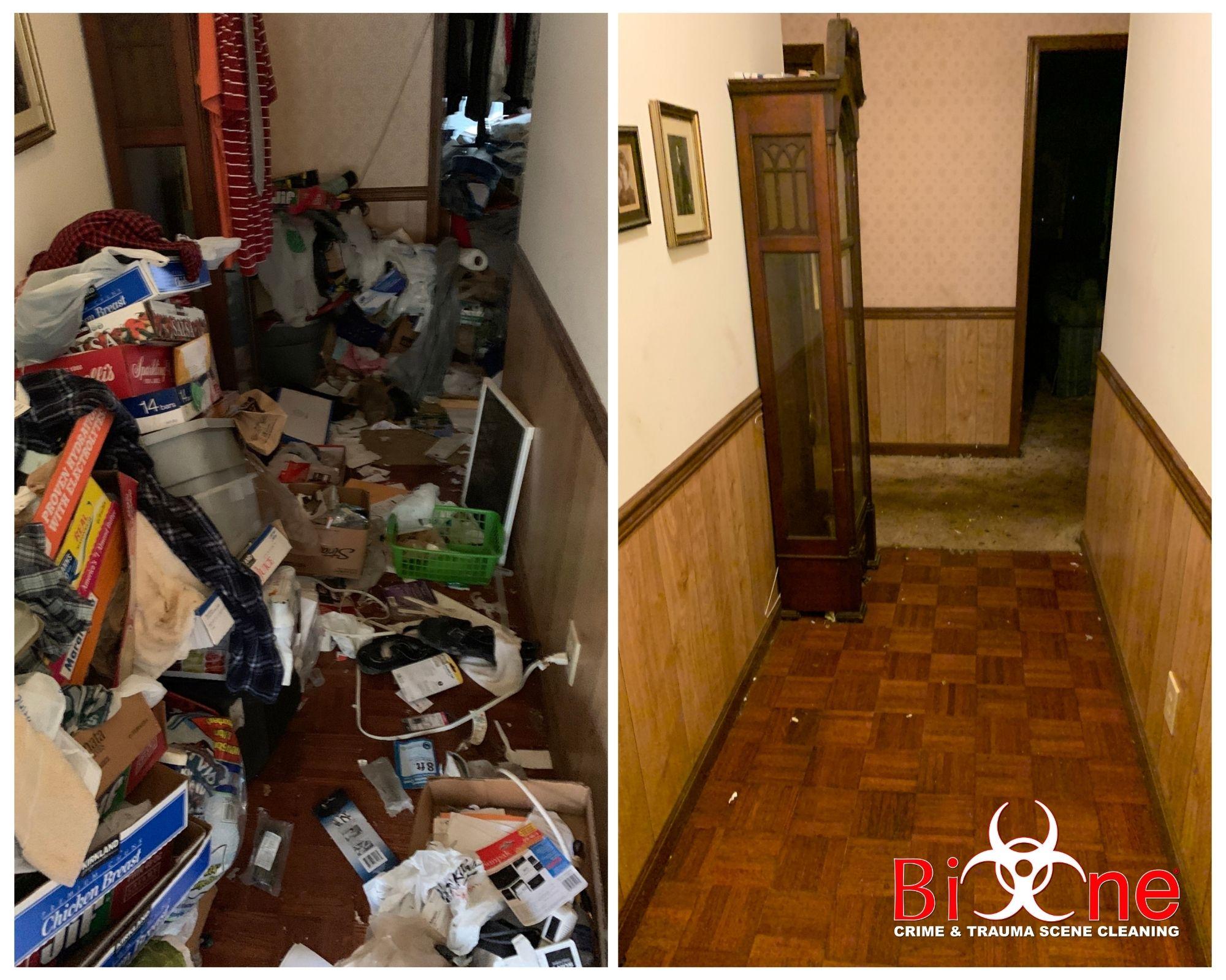 Hoarded house hallway
