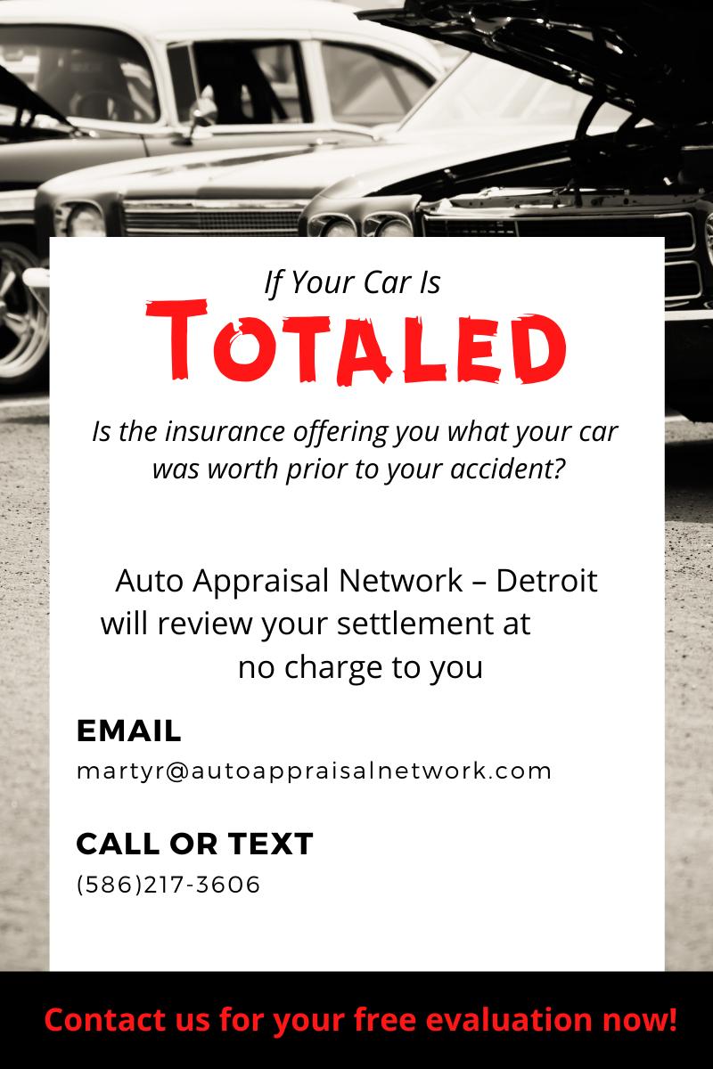 Total Loss Settlement Appraisals