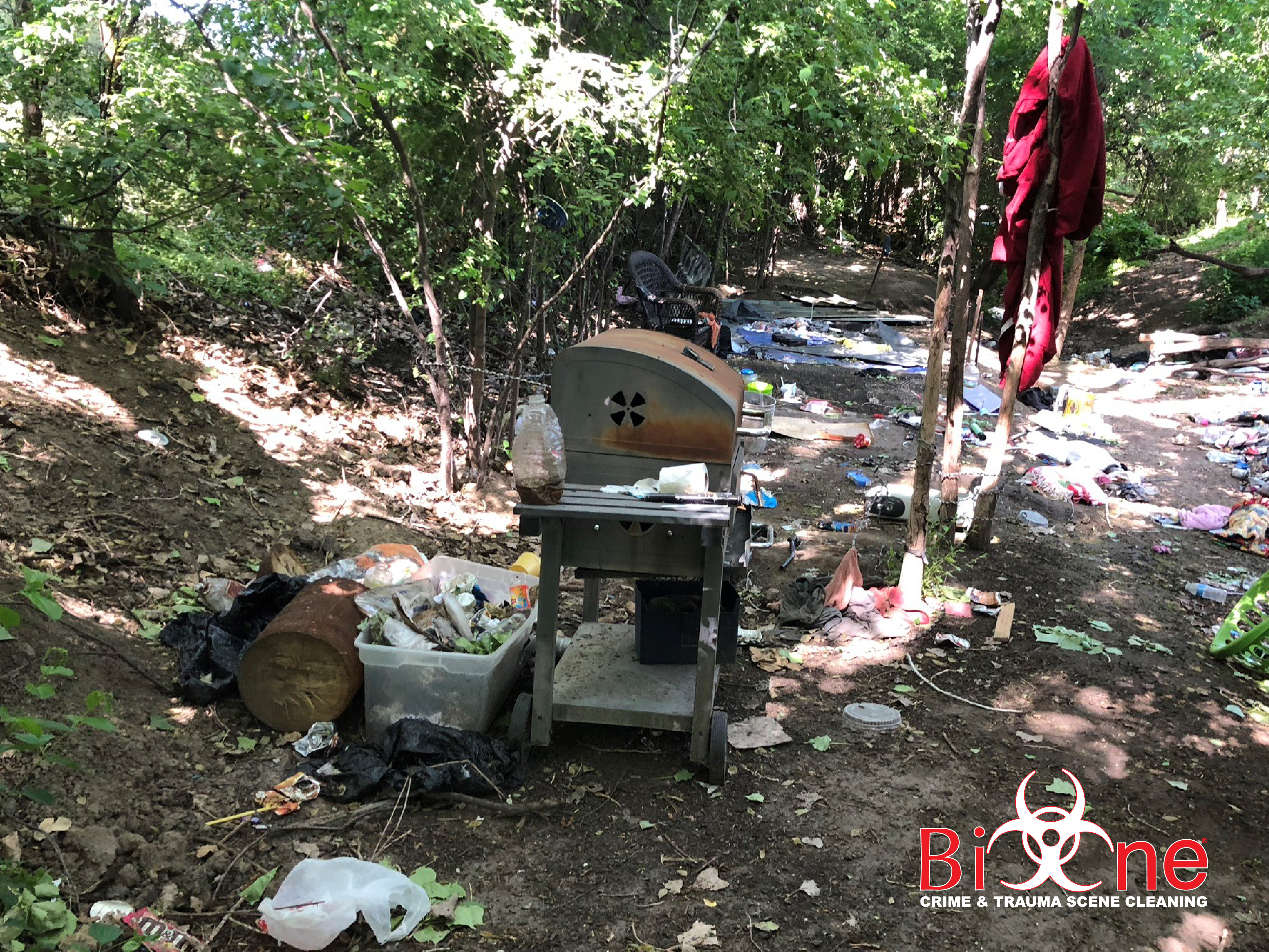 The improvised conditions where homeless encampments are set up can become a problem for property managers and business owners. Bio-One of Chula Vista can help you.