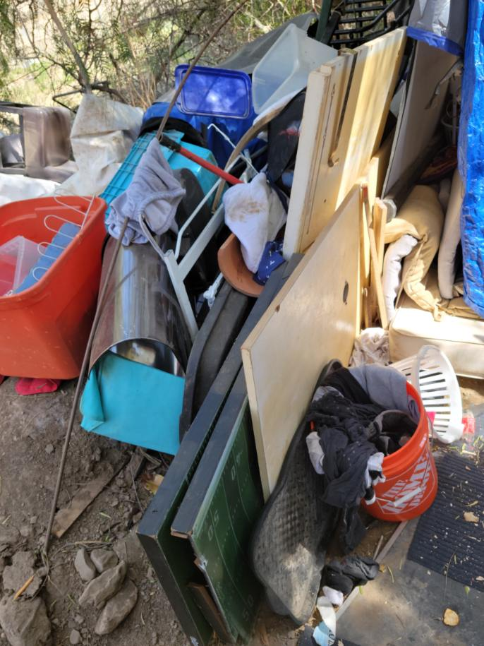 Debris and waste from a hoarding clenaup service provided by Bio-One of Orange specialists.