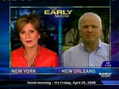 NewsBusters.org | Still Shot of Maggie Rodriguez and John McCain, April 25