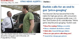 Screencap of Sen. Durbin (D-Ill.) from Chicago Sun-Times Web page (May 20, 2008) | NewsBusters.org