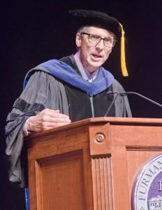Dr. Ken Peterson delivered the convocation address.