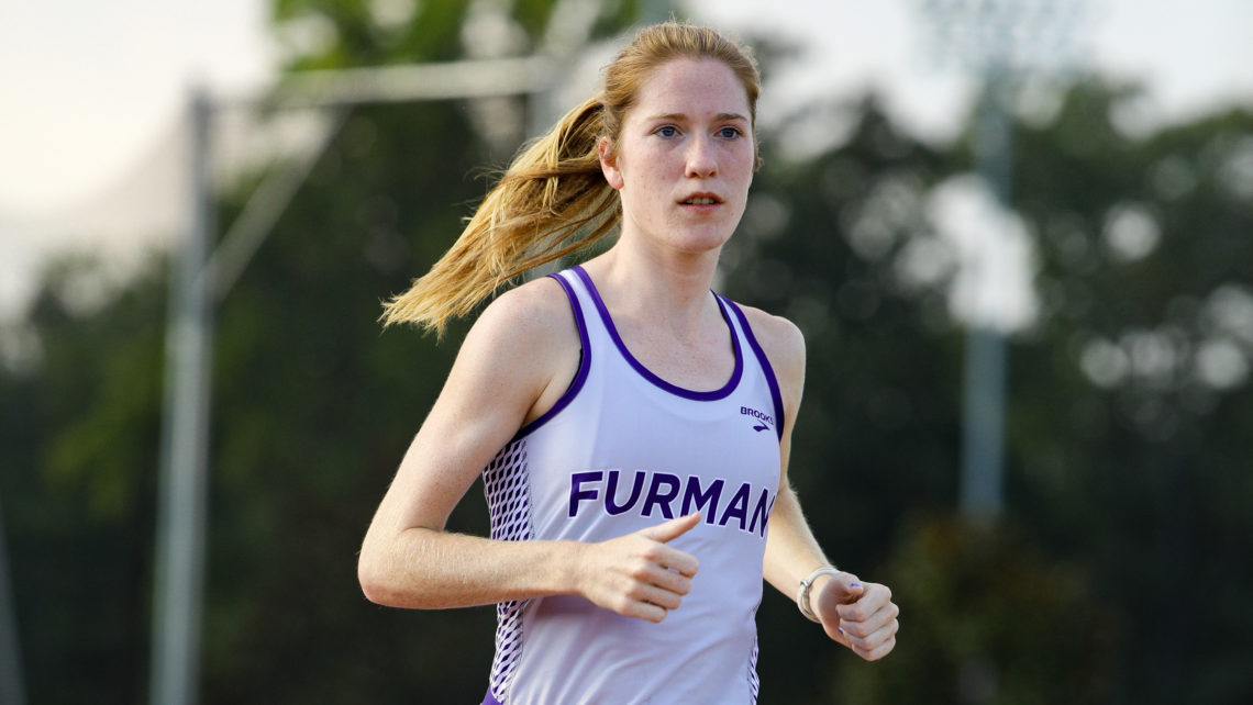Furman All-American Allie Buchalski will compete in the 5,000-meter run at the 2018 NCAA Outdoor Track & Field Championships