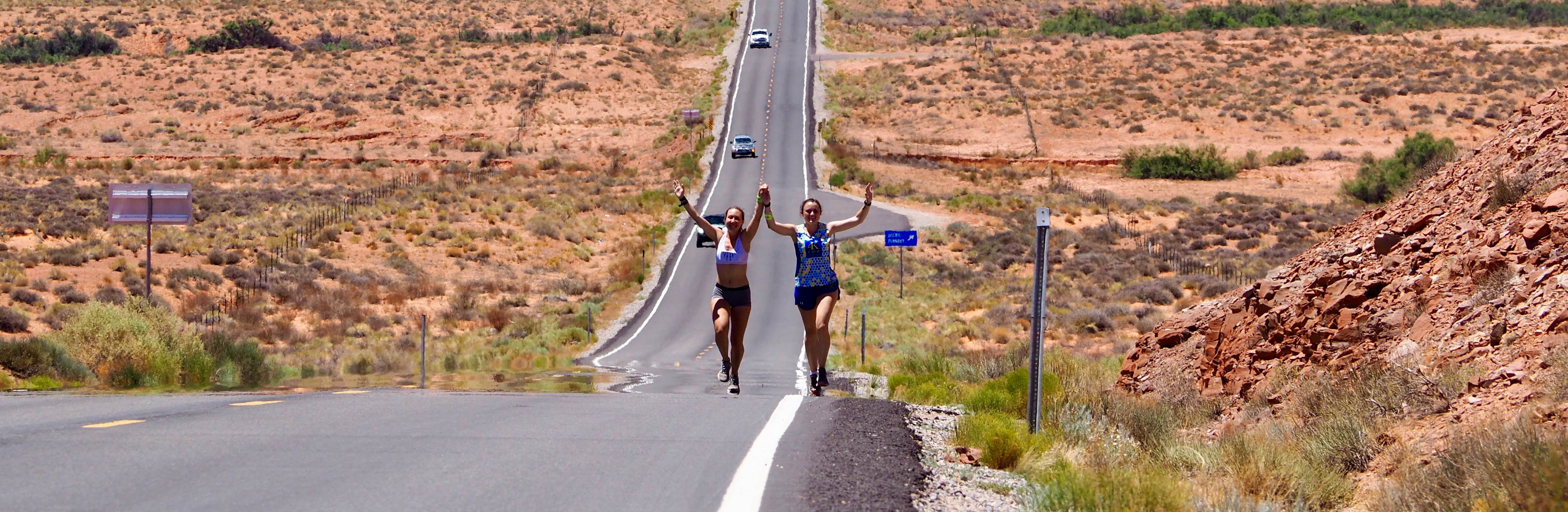 Furman student Emma Sanning runs through Monument Valley for 4K for Cancer.