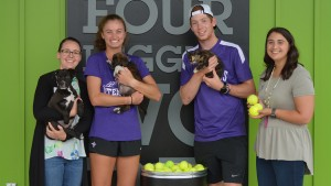 Furman tennis player Danni Vines '20 started a tennis balls donation program.