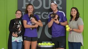 Furman tennis player Danni Vines '20 started a tennis balls donation program.