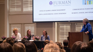 The panelists at the first annual Women's Networking Event at Furman.