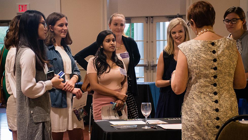 Women attending Furman's first Women's Networking Event.