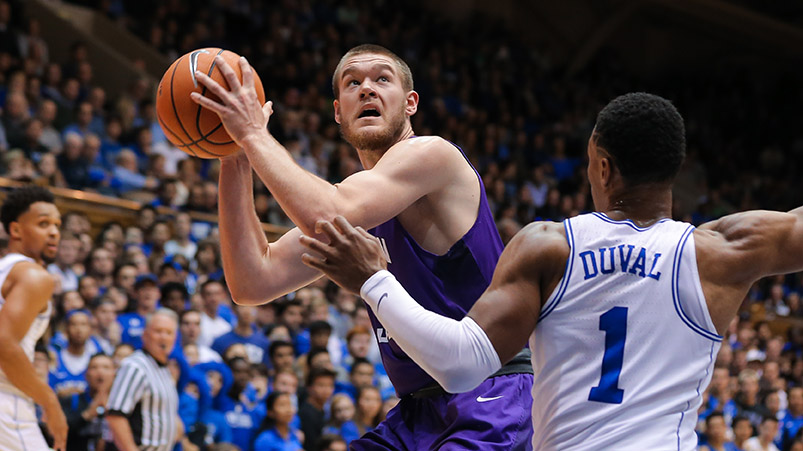 Furman's Matt Rafferty '20 looks for a shot against Duke last season in this file photo.