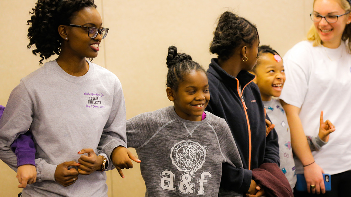 Participants in Furman's MLK Day of Service