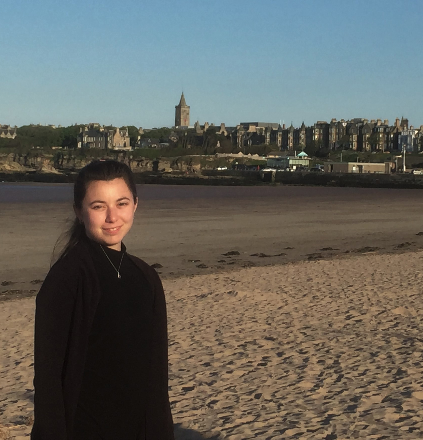 Abigail Hartman '17 in St. Andrews, Scotland