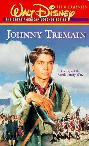 A Disney movie image shows Johnny Tremain with a gun.