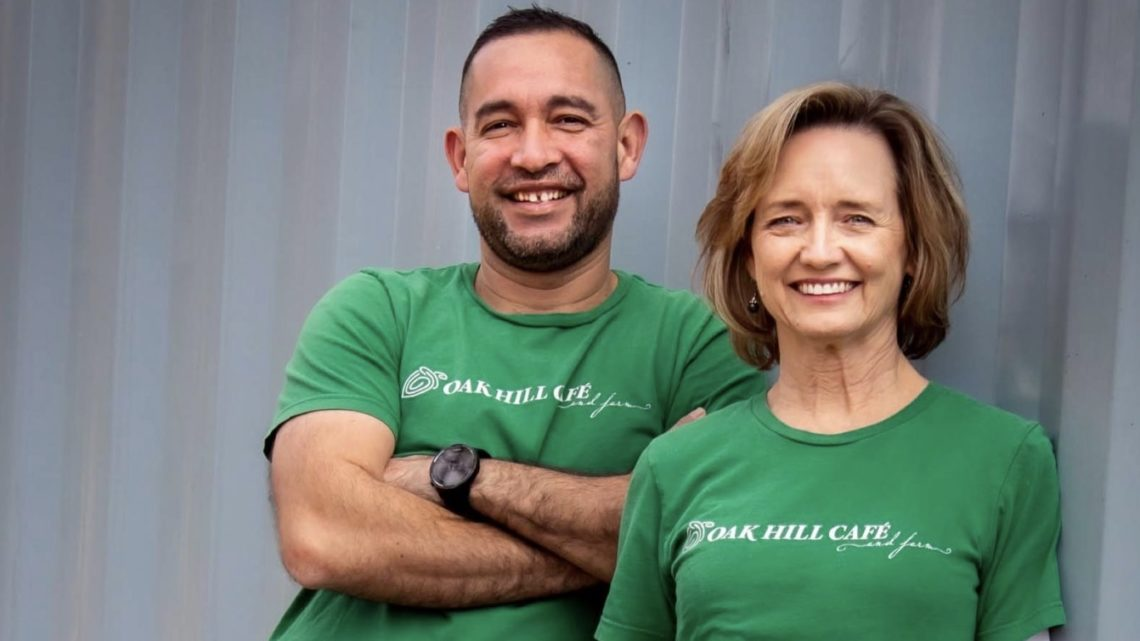 Portrait of chef David Porras and owner Lori Nelsen