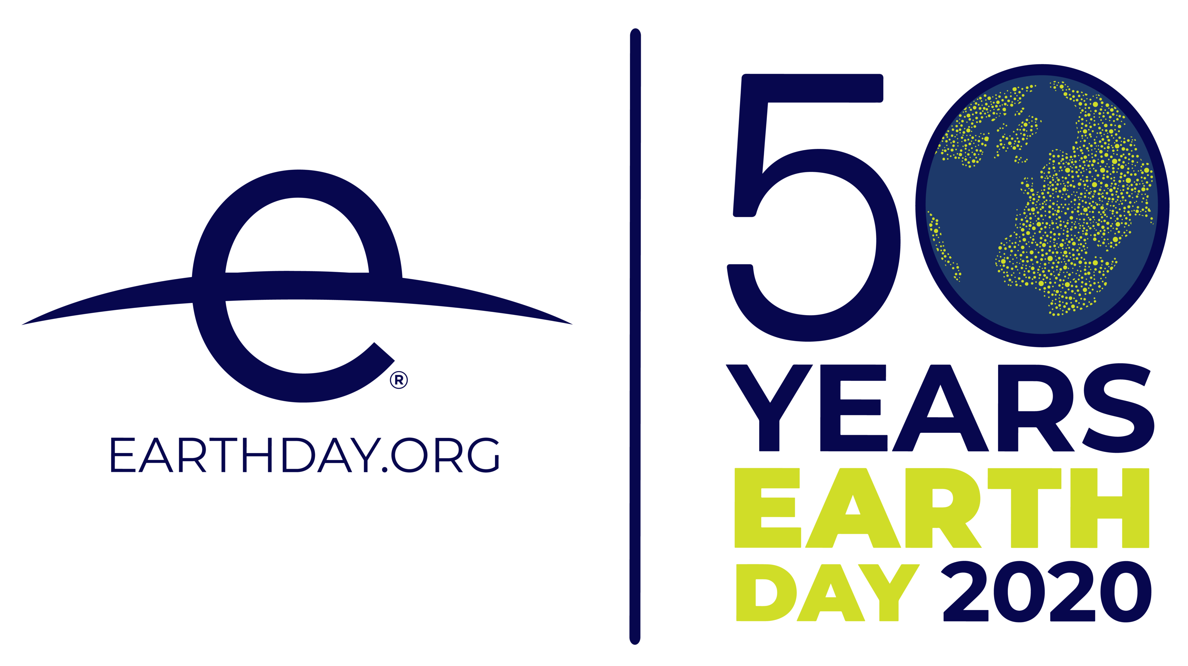 Logo for the 50th anniversary of Earth Day.
