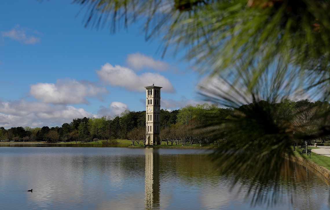 Furman bell tower, water conservation