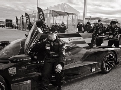 Black and white photo of race car by Julia Tyson '22