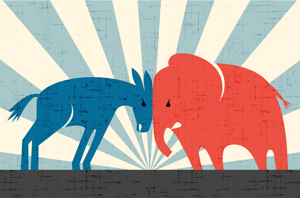Democrats and Republicans clash