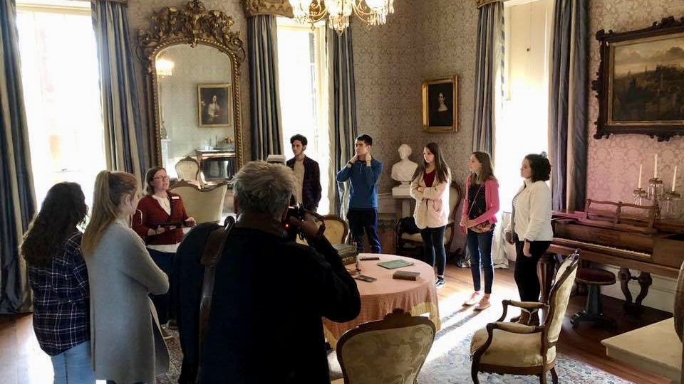 "Furman Students Explore the History behind the Daguerreotypes at the Hampton-Preston Mansion in Columbia, South Carolina as part of Dr. Hecimovich's seminar, ""Picturing Slavery."""