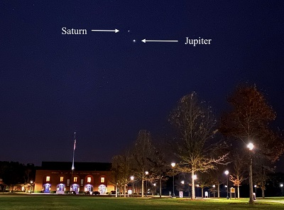 Saturn and Jupiter above the PAC