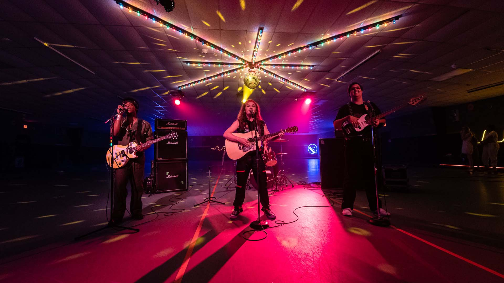 """musicians on stage in film """"Electric Jesus"""""""