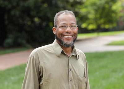 Black man wearing glasses, Geoffrey Habron