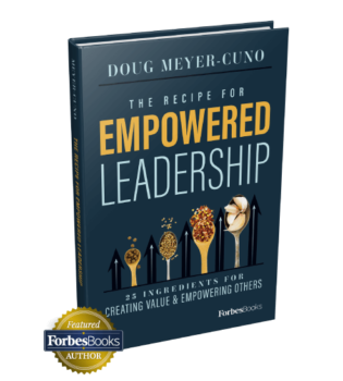"""Book cover, """"Empowered Leadership"""""""