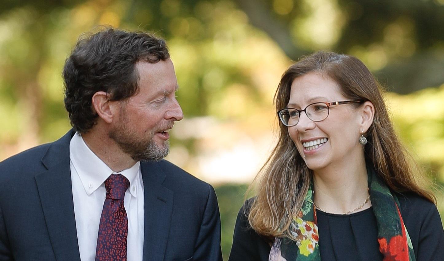 Man and woman, Benjamin Storey and Jenna Silber Storey
