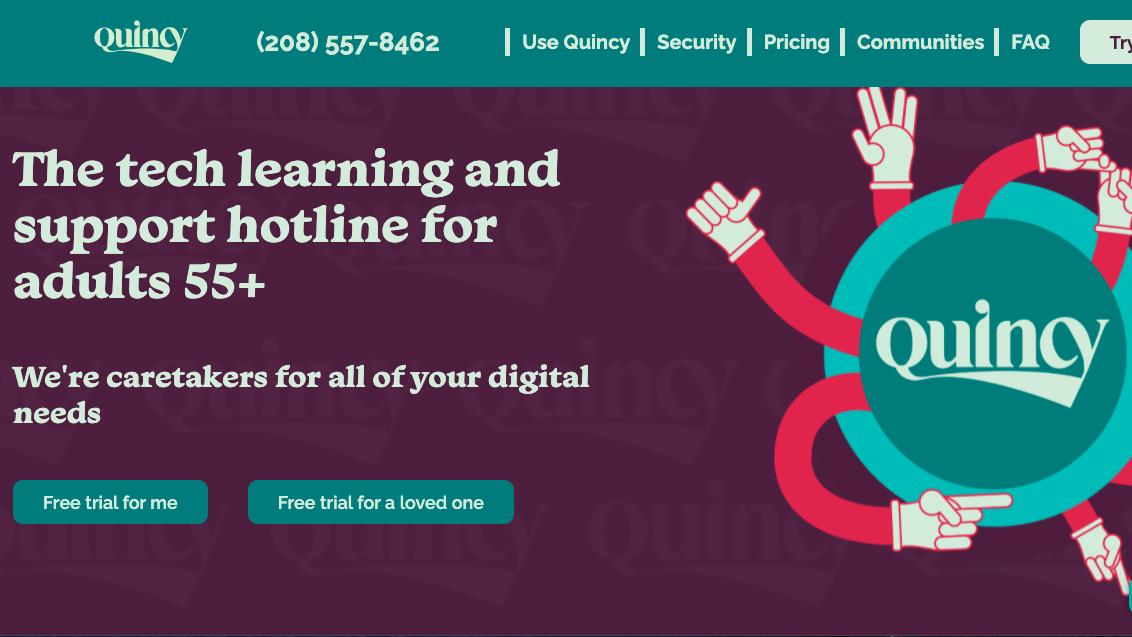 screenshot for the website Go Go Quincy