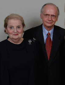 Madeleine Albright and Richard Riley