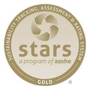 The Gold STARS medal from AASHE