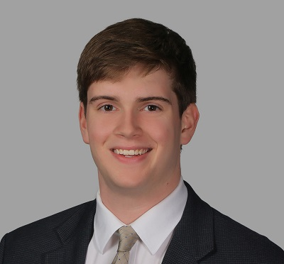 white man in suit and tie, Ethan Grantham '21