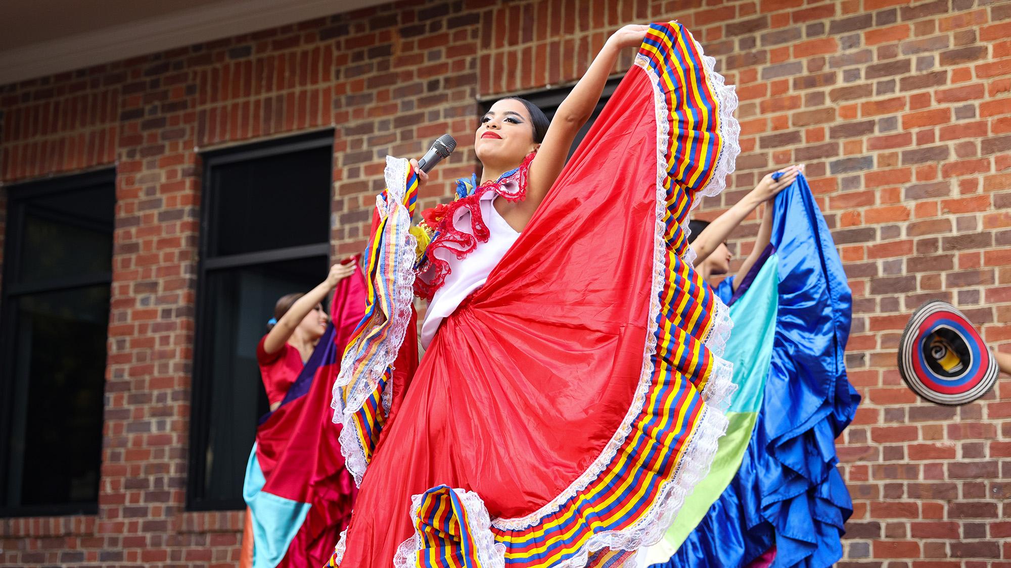 Jaramillo's Latin Dance Academy leads a salsa workshop and performs cumbia, salsa and Latin Hip-Hop dances during Fiesta Hispana.