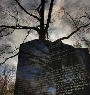 9-11 memorial outside Furman Hall