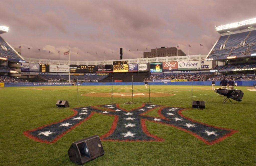 The Healing Power of Sports Post-9/11 Yankees patriotic logo