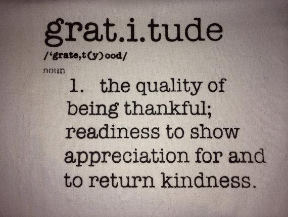 Definition of Gratitude