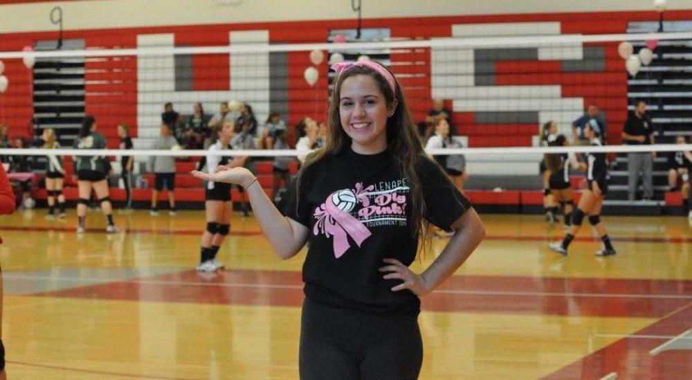 Sara Burgos 2016 Dig Pink Rally Lenape HS.