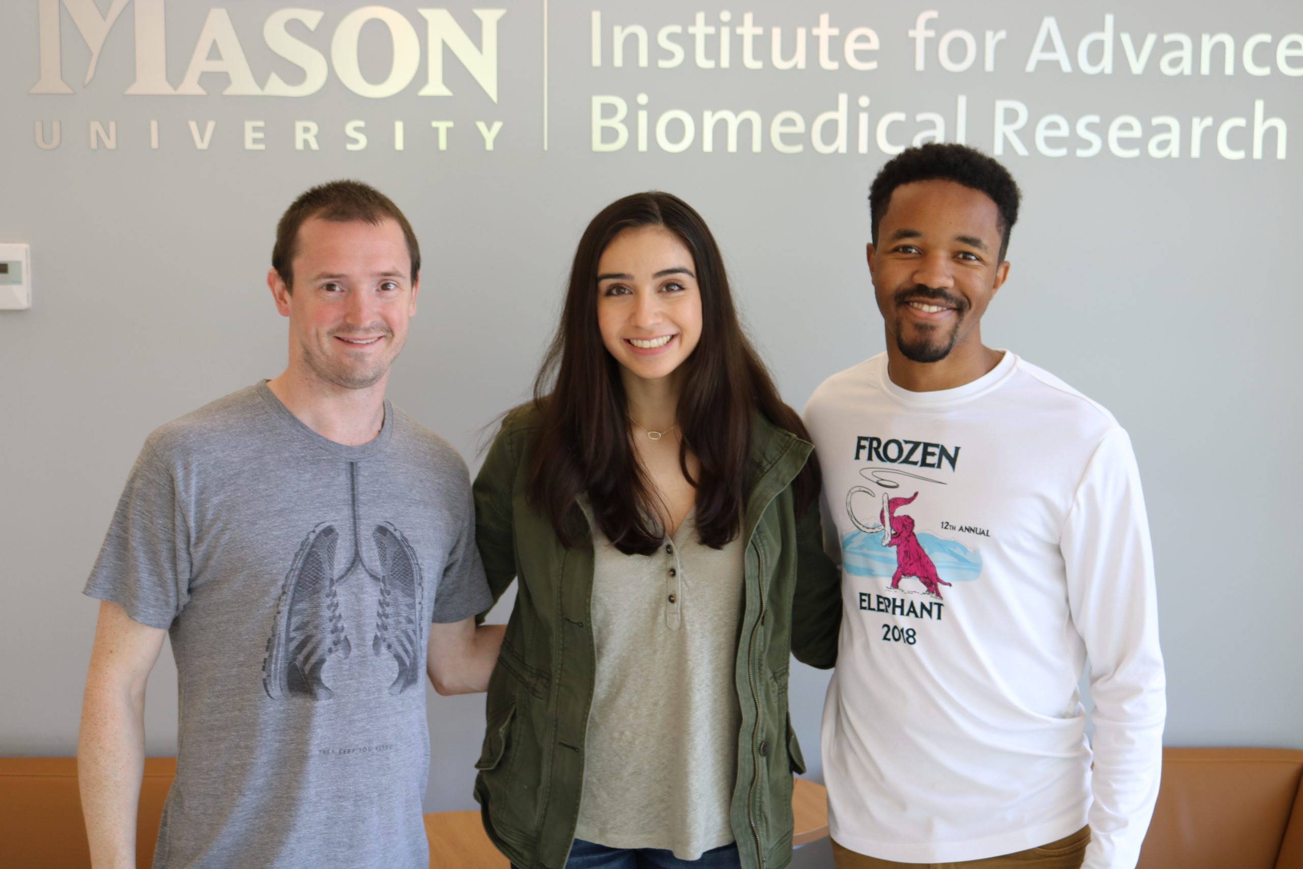 Ambassador Program's recipient Kayla Podgurski, Josh Bryant, and Kyle Williamson at our research facility.