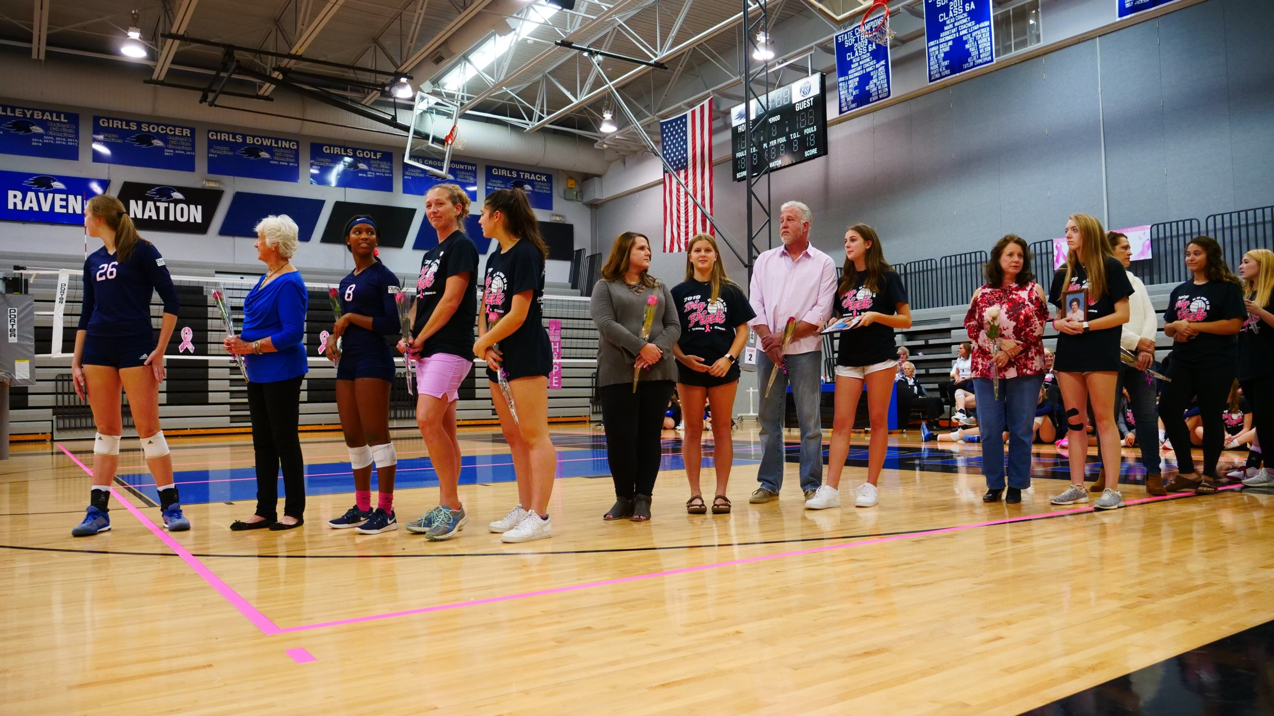 Families and friends join together to support and honor those affected by breast cancer