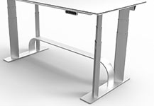 NextDesk Air Aluminum Office Desk
