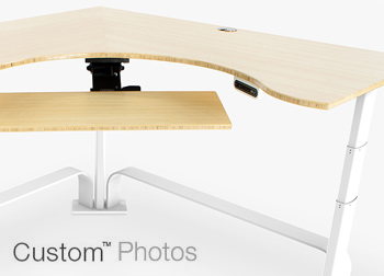 Custom Adjustable Height Desk