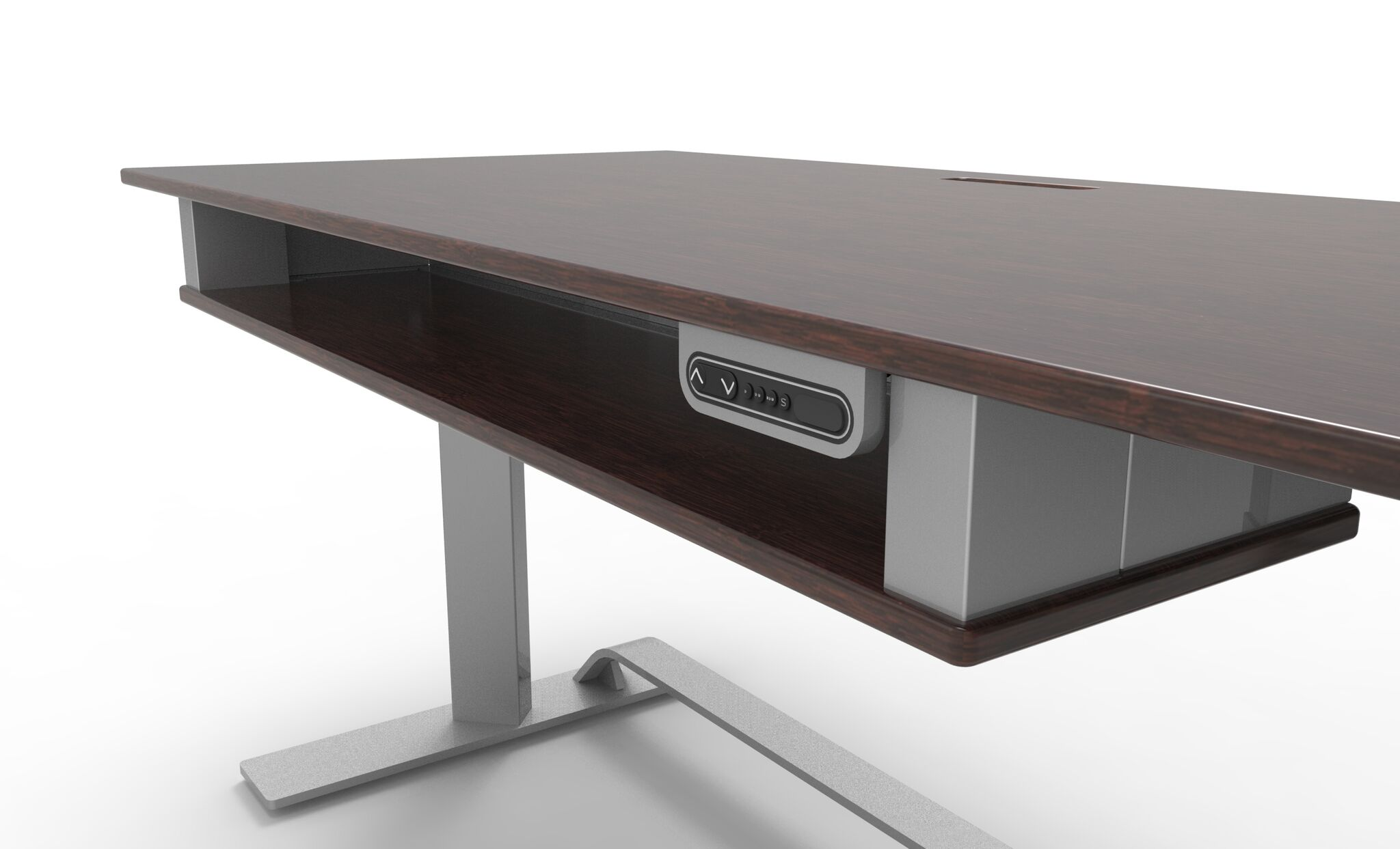 foot furniture birdseye base desk steel stainless maple with conference grommets boardroom table custom