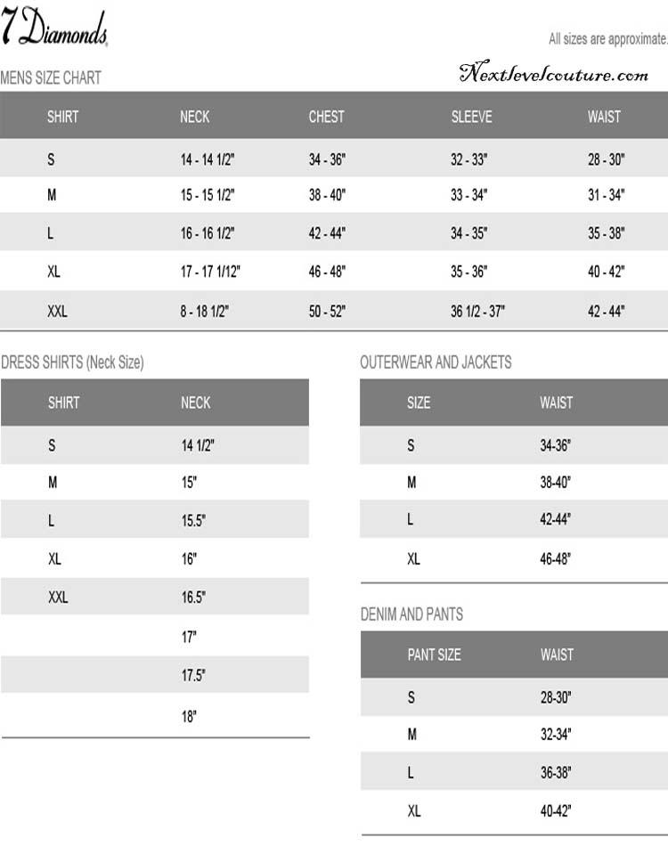 Shirt Size Chart Canada Shirt Size Chart Guide
