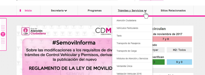 9a34b96a6 Secretaría de Movilidad y Vialidad/Trámites y Servicios