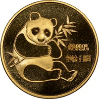1982  1/2oz Gold Panda Coin Obv