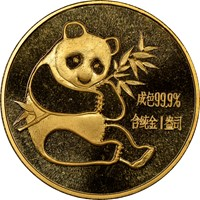 1982  1oz Gold Panda Coin Obv