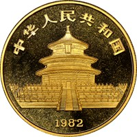 1982  1oz Gold Panda Coin Rev